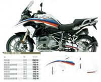Комплект наклеек BMW R 1200GS ADVENTURE '14-'18 BLACKBIRD (CLASSIC LINE) E2D08/00