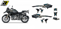 Комплект наклеек BMW R 1200/1250GS '17-'19 BLACKBIRD WILD FRANK GRAPHIC E2D07/01