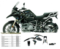 Комплект наклеек BMW R 1200GS ADVENTURE '14-'18 BLACKBIRD WILD FRANK GRAPHIC E2D08/01