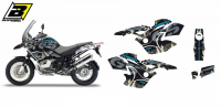 Комплект наклеек BMW R 1200GS ADVENTURE '08-'12 BLACKBIRD WILD FRANK GRAPHIC E2D04/01